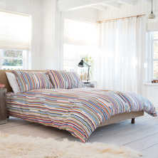 Stripe multicolour duvet set double