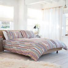 Stripe multicolour duvet set king