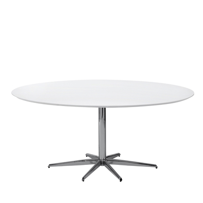 Stellar base gloss 6 seater dining table white large