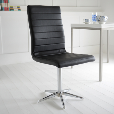 Ripple dining chair black