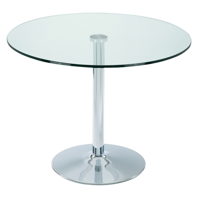 Palermo 2-3 seater dining table medium clear