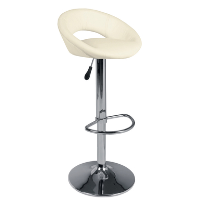 Retro circles bar stool cream