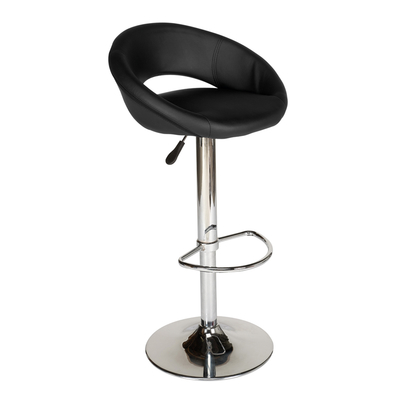 Retro circles bar stool black