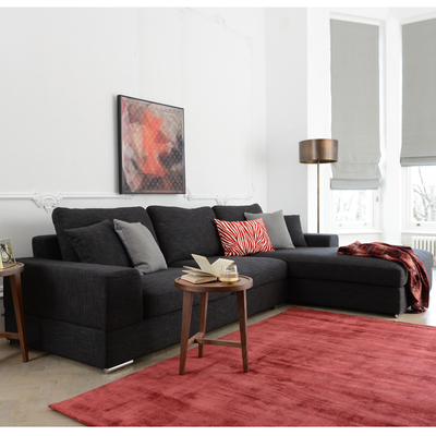 Verona right hand corner sofa charcoal