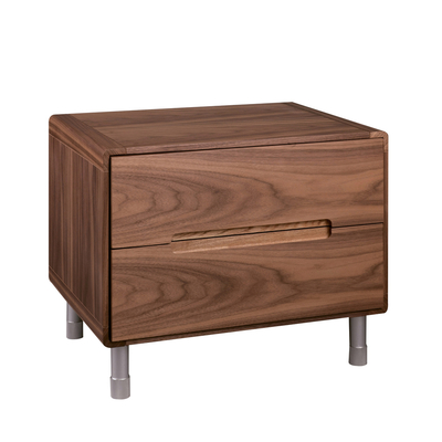 Notch bedside table walnut