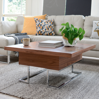 convertible coffee table walnut dwell. Black Bedroom Furniture Sets. Home Design Ideas
