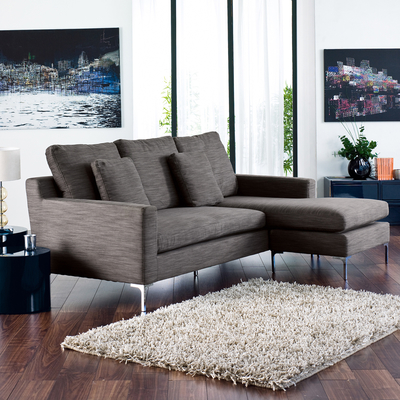 Oslo reversible corner sofa grey fabric