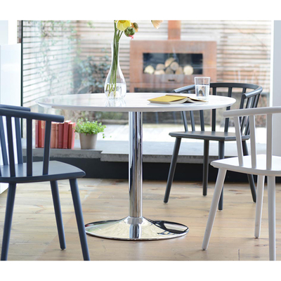 Palermo gloss 2-3 seater dining table medium white