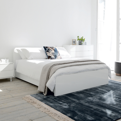 Notch bed double white