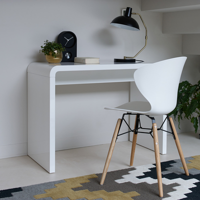 Hudson Compact Desk White Dwell