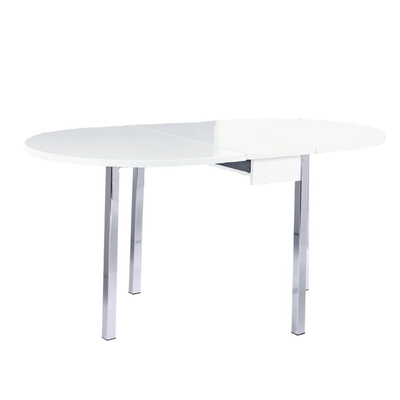 Dropleaf 4 seater table white