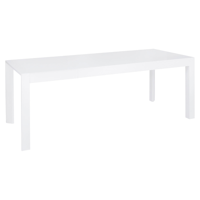 Extending gloss dining table white