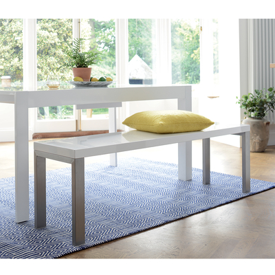 Manhattan high gloss bench white