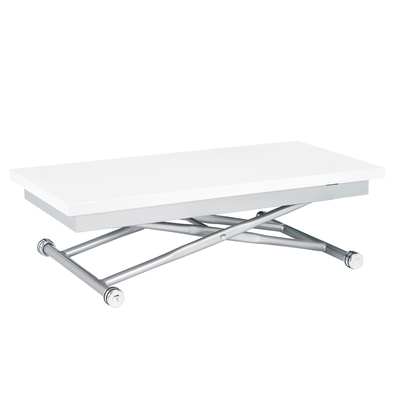 Rise extending coffee table white