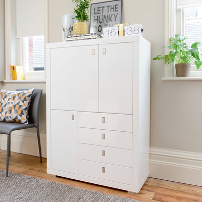 Malone upright sideboard white