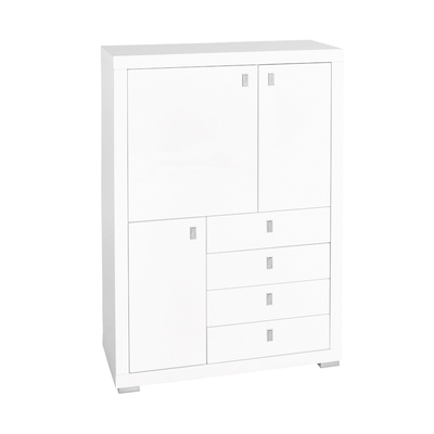 Malone tall sideboard white