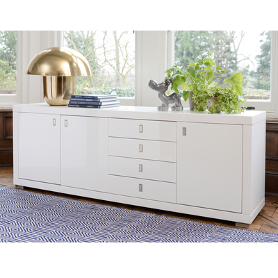 Malone wide double door sideboard white
