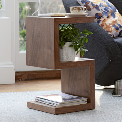 S side table walnut
