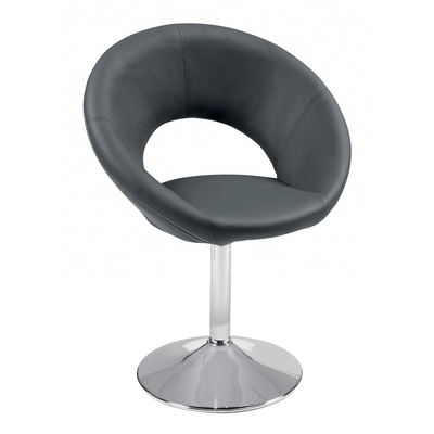 Retro circles dining chair grey