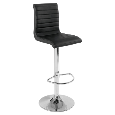 Ripple bar stool black