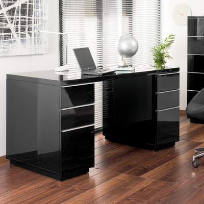black office table. Madison Office Desk Black Table H