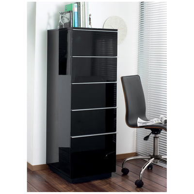 Madison tall office cabinet black