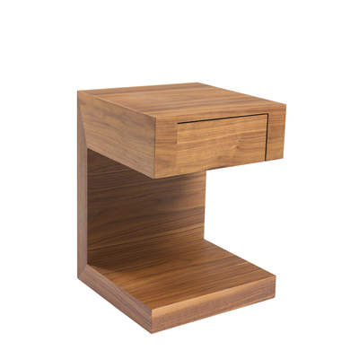 Seattle bedside table with drawer walnut