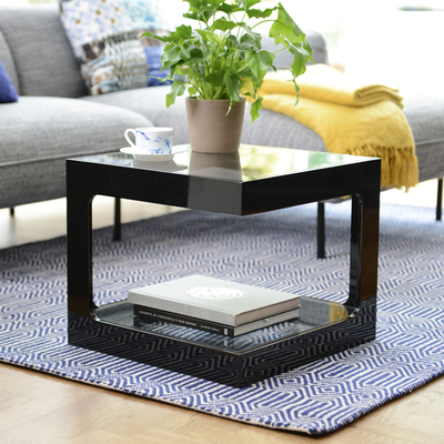Modular gloss side table black