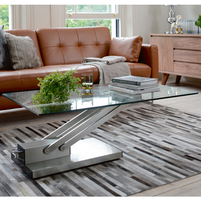 Elevate glass coffee table clear