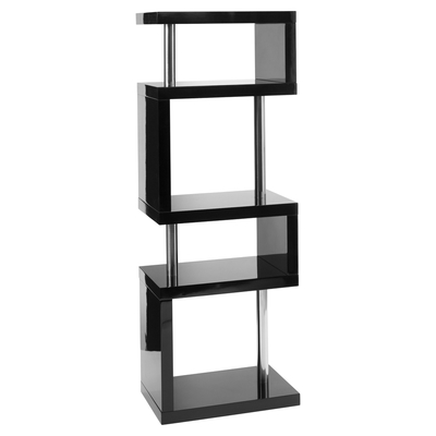 Contour slim shelving black