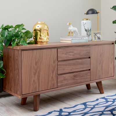 Sideboard Amazing Finished With American Oak Veneer With