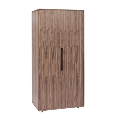 Notch wardrobe two door walnut