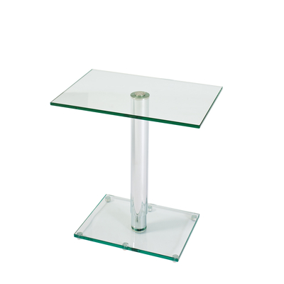 Tomasz adjustable rectangular side table clear