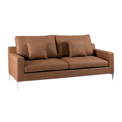 Oslo three seater sofa terracotta