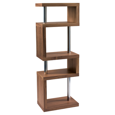 Contour slim shelving walnut