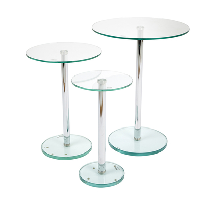 Bella glass side table set clear