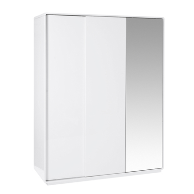 Malone sliding mirror door wardrobe large white