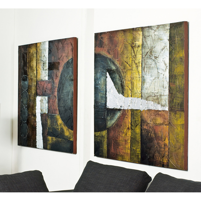 Abstract art set of two