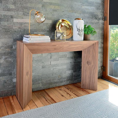 Sophia console table walnut