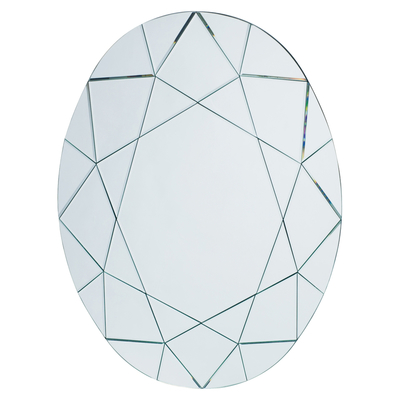 Fractured oval mirror