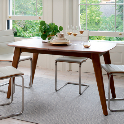 Circa compact extending rectangular dining table
