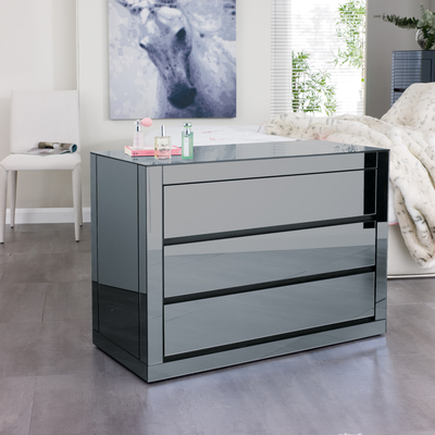Reflect Mirrored Wide Chest Of Drawers Dwell