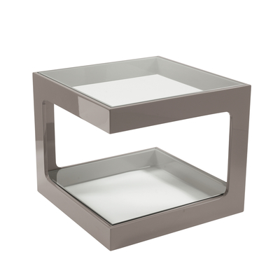 Modular gloss side table stone