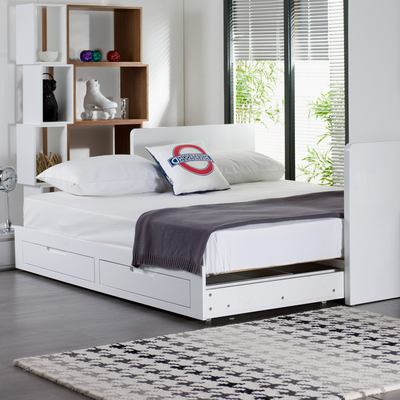 Buddy extending guest bed white