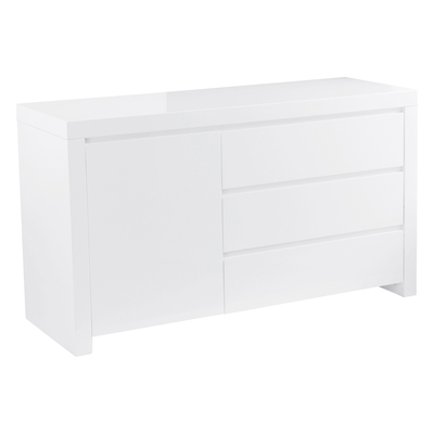 Newton compact storage sideboard white