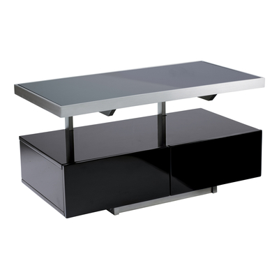 Floating shelf compact TV unit black