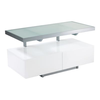 Floating shelf compact TV unit white
