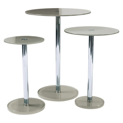 Bella glass side table set stone
