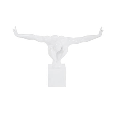 Olympian statue white small
