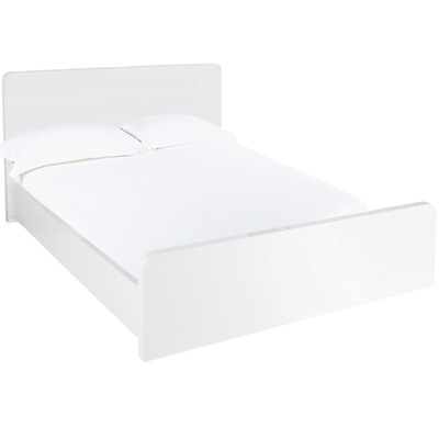 Notch bed king white